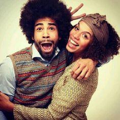 #Natural Hair #Cute Couple