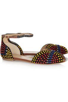 Vionnet Embellished suede sandals