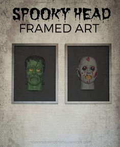 Spooky Head Frames a