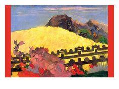 There Is the Temple Art Print by Paul Gauguin at Art.com