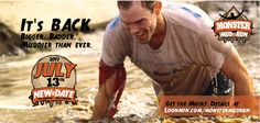 Get ready to get muddy. The Monster Mud Run is happening July 13. Sign up here: http://bit.ly/104XZPw