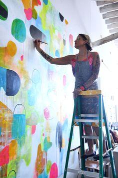 lisa congdon's studio tour & new book art inc. / sfgirlbybay - artist at work Art And Illustration, Artist Workspace, Art Studios, Artist At Work, Oeuvre D'art, Painting Inspiration, Art Lessons, Book Art, Art Projects