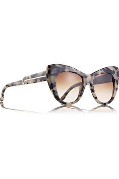 Stella McCartney - Tortoiseshell cat eye acetate sunglasses from NET-A-PORTER