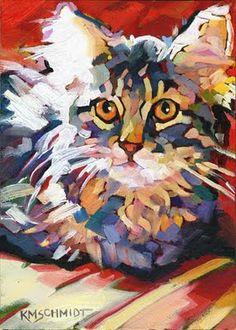 Louisiana Edgewood Art Paintings by Louisiana artist Karen Mathison Schmidt: Rising to the Cat & Caboodle Challenge