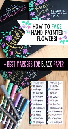How to- Fake Hand Painted Flowers! - Free Pretty Things For You
