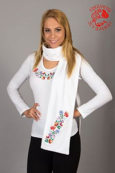 Hooded scarf, embroidery, Hungary, soft, warm, fashion, clothes Hooded Scarf, Hungary, Fashion Clothes, Hoods, Scarves, Tunic Tops, Warm, Embroidery, Clothes For Women