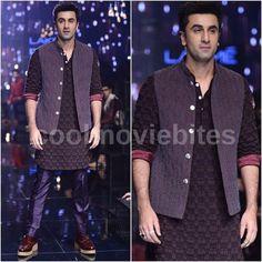 Ranbir Kapoor looks dapper as he walks for Kunal Rawal at the...