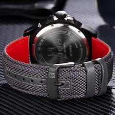 020f7a2a54 NAVIFORCE Top Brand Military Watches Men Fashion Casual Canvas Leather  Sport Quartz Wristwatches Male Clock Relogio Masculino. Sportos Órák