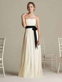 lvory strapless floor length dress