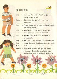 Manuels anciens: Malik et Zina (lecture 2ème année, Algérie, 1966) Pigeon, Vocabulary, Culture, Ya Books, Primary Education