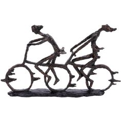 Statuette with a pair of cyclists. Product: StatuetteConstruction Material: PolystoneColor: Blac...