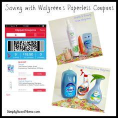 Saving with Walgreens Paperless Coupons #walgreenspaperless #shop