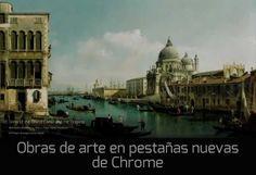 Una obra de arte en cada pestaña nueva de Chrome #extensionesChrome