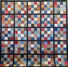 WILLIAM MORRIS 16-PATCH BED QUILT 99″ ×  99″. Toni Getz.www.Quilt Works abq.com