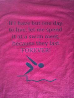 With all my girl's being swimmers & coaches, wish I would have had one of these! Last Day Swim Meet  Choice of Colors Can be by JustAnAwesomeMom, $12.00