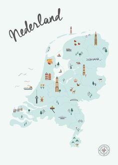Nederland in Kaart Blauw