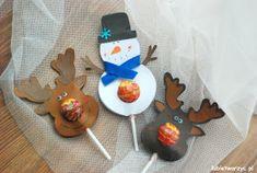 Lubię Tworzyć: Lizakowy renifer i bałwanek Diy Christmas Garland, Gingerbread Cookies, Gifts, Ginger Cookies