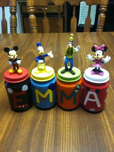 Baby food jars + acrylic paint + dollar store figurines = THIS!!
