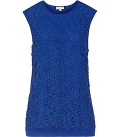 Womens Serpentine Lace-front Top - Reiss Octavia