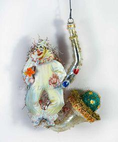 Fabulous Clown on Glass Bubble-Blowing by DresdenStarOrnaments