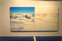 """""""Límites Hiperfronterizos"""" Julio Sarramián.  Exposición """"El rumor de la montaña"""" Sala Cruzcampo #Málaga  #arte #artecontemporáneo #contemporaryart #exposiciones #Arterecord 2015 https://twitter.com/arterecord"""