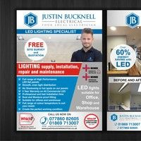 Leaflet for LED lighting LED lighting for your business. Creative Flyers, Creative Advertising, Advertising Design, Solar Companies, Photo Supplies, Folder Design, Presentation Folder, Custom Postcards, What Inspires You