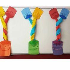 Decorate the room Preschool Art Projects, Preschool Rooms, Fall Preschool, Preschool Activities, Kindergarten Classroom Decor, Classroom Fun, Art For Kids, Crafts For Kids, Class Decoration