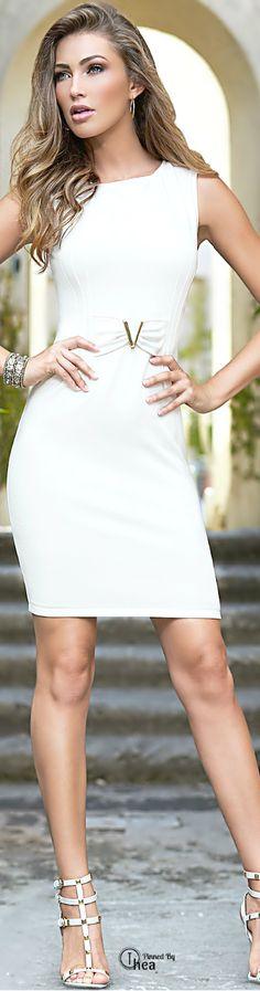WHITE • HAUTE • CHIC #fashion✿ιиѕριяαтισи❀ #abbigliamento