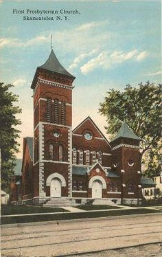 Skaneateles NY First Presbyterian Church 1910's