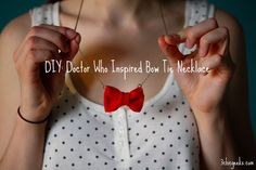 How to make a Doctor Who inspired Bow Tie necklace.