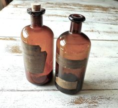 Antique Apothecary Bottles Donovan's Solution and by marybethhale, $56.00