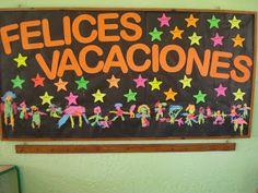 UN JARDÍN ABIERTO A LA COMUNIDAD: Carpetas y carteleras de fin de año 2012 Spanish Classroom, Teaching Spanish, Class Decoration, Ideas Para Fiestas, Kindergarten, School, Gardens, Murals, Paper