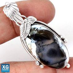 Dendrite Opal Native American Reproduction Silver Pendant  SP55509