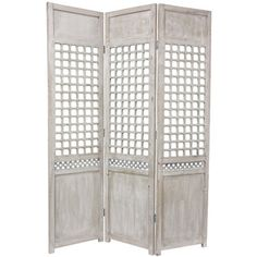 Use #woodlattice as a design element in a room divider. Back with semi-transparent paper in a color or pattern to make it pop and add extra privacy.