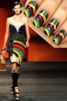 Prada Spring 14 #nail #nails #nailart