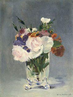 Édouard Manet (1832-1883)  Flores numa Jarra de Cristal, c. 1882  Óleo sobre tela, 32,7 x 24,5cm  National Gallery of Art, Washington DC, Alisa Mellon Bruce collection.
