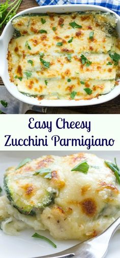 Easy Cheesy Zucchini Parmigiano, a delicious healthy side dish or the ...