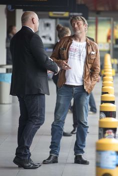 """Mads Mikkelsen at Berlin Tegel airport today. """