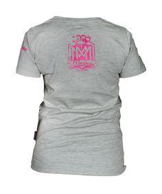Damska koszulka 'Logo' szara - tył ---> Streetwear shop: odzież uliczna, kibicowska i patriotyczna / Przepnij Pina!