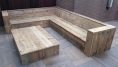 Outdoor Furniture Bench, Outside Furniture, Garden Furniture, Outdoor Dining, Outdoor Sofa, Outdoor Decor, Corner Sofa Plans, Corner Sofa Garden, Outside Seating