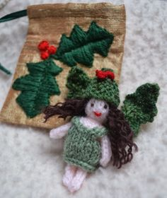 Holly Fairy and Embroidered Bag