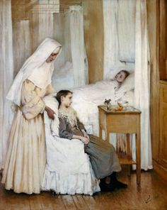 poboh:  At Notre-Dame du Perpetuel Bon Secours Hospital, Henry-Jules-Jean Geoffroy. French (1853 - 1924)