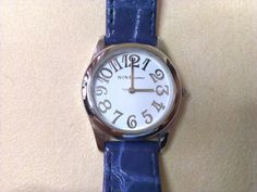 Nine & Company Blue Leather Band Working Watch by LuisBlindFinds, $18.99