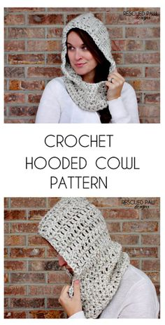 Free Crochet Hooded Cowl Scarf Pattern - 28 Free Crochet Hooded Cowl Patterns - DIY & Crafts