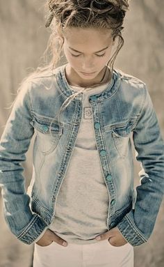 Earthchild - Bleached Denim Girl's Jacket