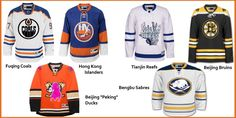 The Chinese hockey Jersey designs have been released. Designs are based on their NHL Partners, Toronto Leafs, Boston Bruins, Edmonton Oilers.