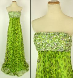 Jovani 3479 Genuine Green Beaded Formal Gown - Available In Size 2,4