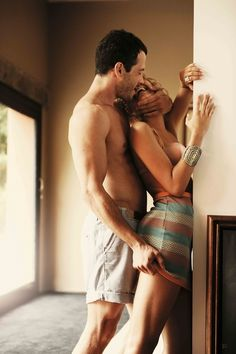 push her up against a wall and kiss her like you mean it...don't leave her doubting..