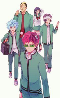 Saiki & Friends - Saiki Kusuo no Psi nan Manga Anime, All Anime, Me Me Me Anime, Anime Guys, Psi Nan, Anime Bebe, Fan Art Anime, K Wallpaper, Anime Shows