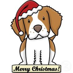 Cartoon Brittany Spaniel Christmas Ornament Photo Sculptures